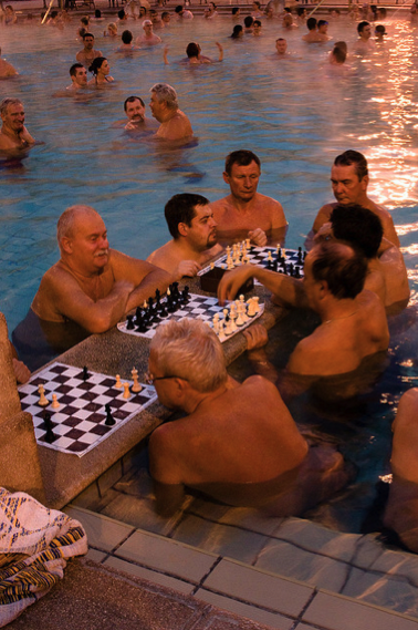 Chess Players at Szechenyi Baths Budapest - photo: Alvaro Jenik