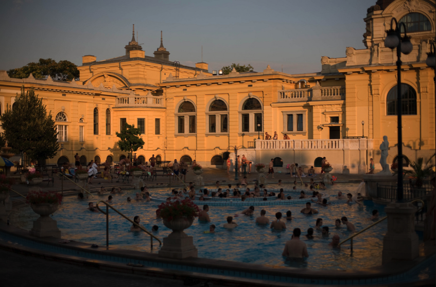 Late Afternoon Sun at Szechenyi Spa Baths