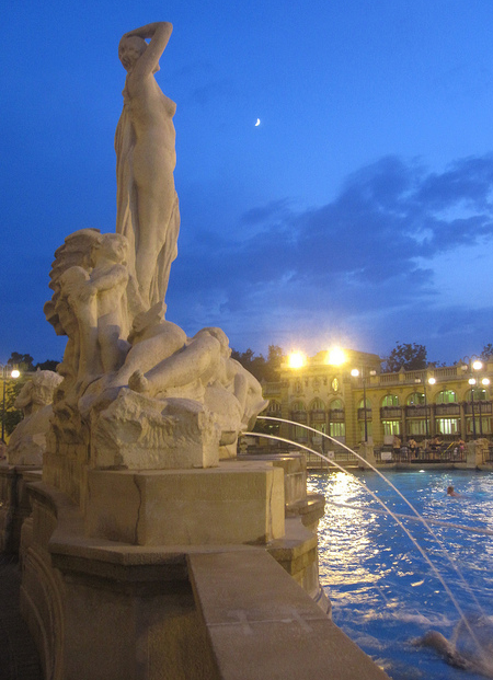 Szechenyi Baths by night