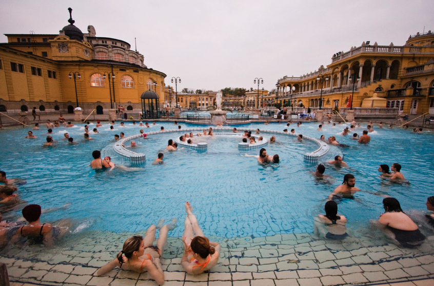 Szechenyi Baths outdoor pools - photo by Alvaro Jenik
