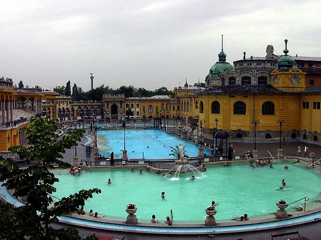Szechenyi Baths thermal pool and swimming pool