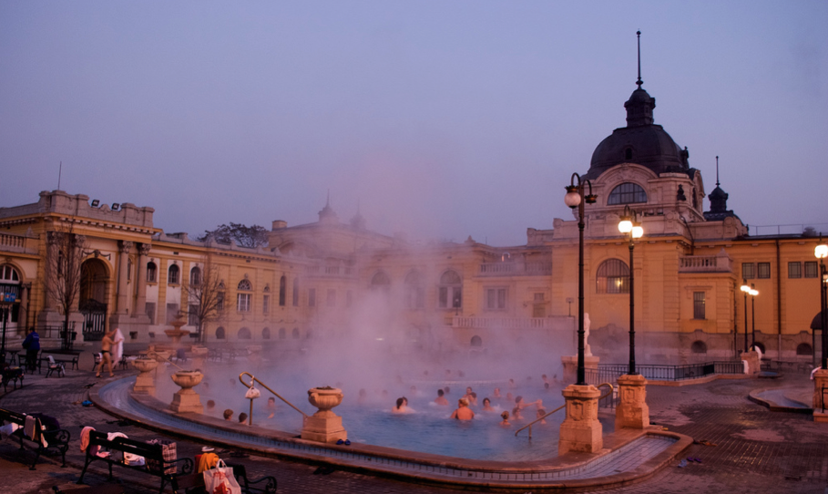 Szechenyi Bath in Winter