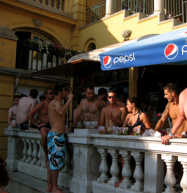 Szechenyi Baths - Drinking Alcohol