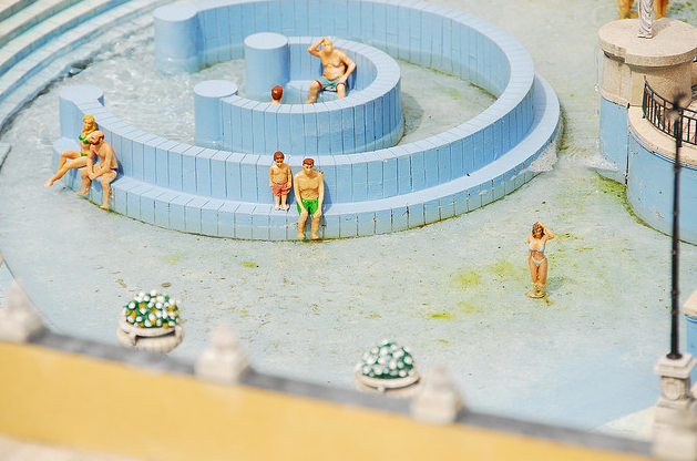 Whirpool in Szechenyi Baths mock model