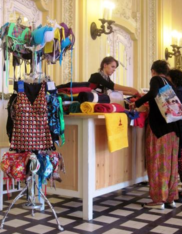 Buying swim wear and towel at Szechenyi Bath