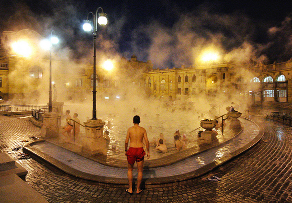 Szechenyi Baths Winter time